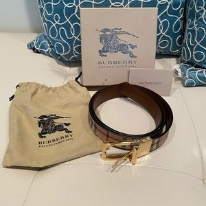 Authentic, Burberry Women's Belt, Like New